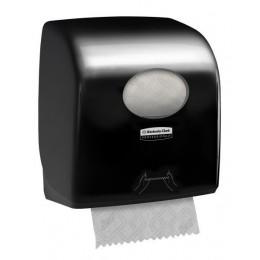 Диспенсер для рулонных бумажных полотенец черный Kimberly Clark Professional Aquarius 7376
