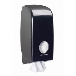 Диспенсер для листовой туалетной бумаги из пластика чёрный Kimberly Clark Professional Aquarius 7172