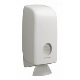 Диспенсер для листовой туалетной бумаги из пластика белый Kimberly Clark Professional Aquarius 6946