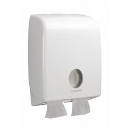Диспенсер для листовой туалетной бумаги из пластика белый Kimberly Clark Professional Aquarius 6990