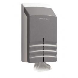 Диспенсер для листовой туалетной бумаги из пластика серый Kimberly Clark Professional Ripple 6938