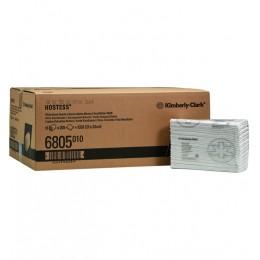 Полотенца бумажные листовые Kimberly Clark Scott Hostess 6805 H2 Z-C сложения 1-слойные в пачке по 208 листов