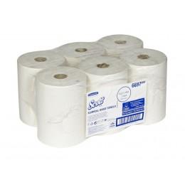 Полотенца бумажные в рулоне Kimberly Clark Scott Slimroll 6697 1-слойные в рулоне по 190 метров