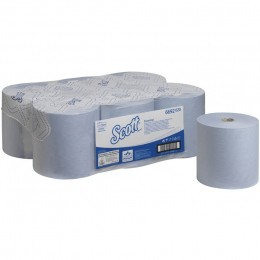 Полотенца бумажные в рулоне Kimberly Clark  Scott Essential 6692 1-слойные 6 рулонов по 350 метров