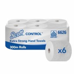 Полотенца бумажные в рулоне Kimberly Clark  Scott Control Extra Strong 6626 (ранее арт. 6620) 1-слойные в рулонах по 300 метров