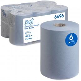 Полотенца бумажные в рулоне Kimberly Clark  Scott Essential Slimroll 6696 1-слойные 6 рулонов по 190 метров