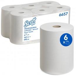 Полотенца бумажные в рулоне Kimberly Clark Scott Slimroll 6657 1-слойные 6 рулонов по 165 метров