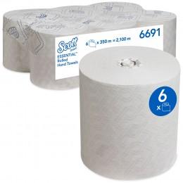 Полотенца бумажные в рулоне Kimberly Clark Scott Essential 6691 1-слойные 6 рулонов по 350 метров