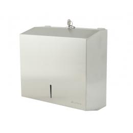 Диспенсер для листовых бумажных полотенец нержавеющая сталь матовый Ksitex TН-5823 SS