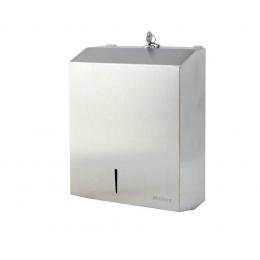 Диспенсер для листовых бумажных полотенец нержавеющая сталь матовый Ksitex TH-5821 SS
