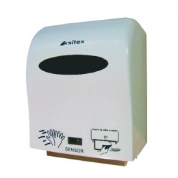 Диспенсер для рулонных бумажных полотенец сенсорный Ksitex A1-15A Белый