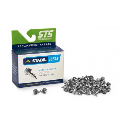 Шипы противоскользящие для ледоходов Maxx из термообработаной стали- steel cleat- STABILicers Maxx