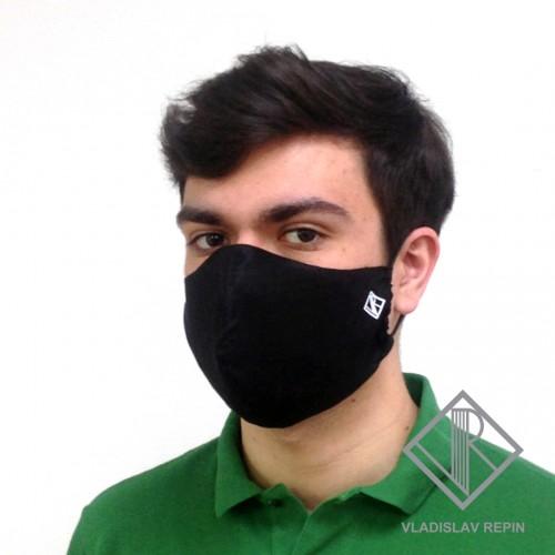 Маска повязка дизайнерская для лица