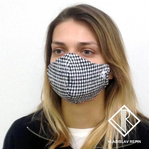Маска повязка защитная дизайнерская на лицо