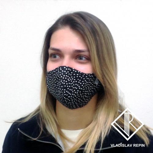 Маска защитная дизайнерская на лицо
