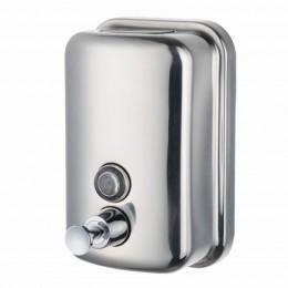 Диспенсер для жидкого мыла Нержавеющая сталь Merida Популярный DQP502 Хром (Блестящий)