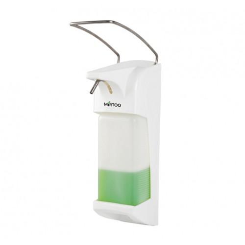 Дозатор локтевой MIRTOO X-2262 для антисептика и мыла антивандальный ABS-пластик еврофлакон 1000 мл. с замком