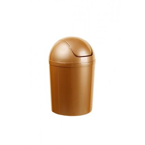 Ведро для мусора с качающейся крышкой, пластиковый, объем 5 л. 15 л.