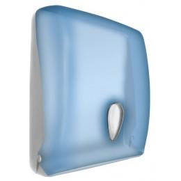 Диспенсер для листовых бумажных полотенец из пластика синий NOFER 04020.T