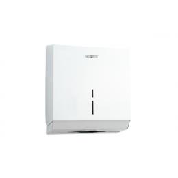 Диспенсер для листовых бумажных полотенец из нержавеющей стали белый NOFER 04005.W
