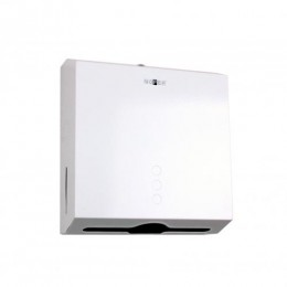 Диспенсер для листовых бумажных полотенец из нержавеющей стали белый NOFER 04006.W