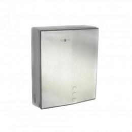 Диспенсер для листовых бумажных полотенец из нержавеющей стали матовый NOFER 04046.S