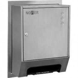 Диспенсер для рулонных полотенец из нержавеющей стали матовый автоматический NOFER  04035.REC.S