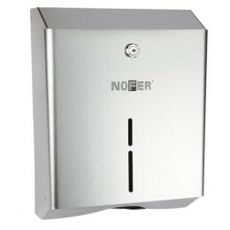Диспенсер для листовых бумажных полотенец из нержавеющей стали матовый NOFER 04010.S