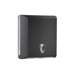 Диспенсер для листовых бумажных полотенец черный NOFER 04031