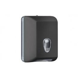 Диспенсер для листовых бумажных полотенец черный малый NOFER 04030