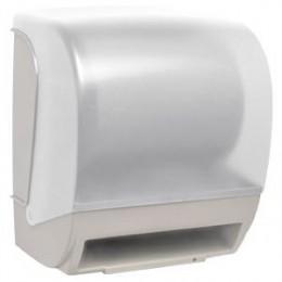 Диспенсер для рулонных бумажных полотенец пластиковый белый автоматический NOFER 04004.2.W