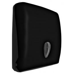 Диспенсер для листовых бумажных полотенец из пластика черный NOFER 04020.С