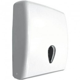 Держатель для листовых бумажных полотенец пластиковый белый NOFER 04020.W