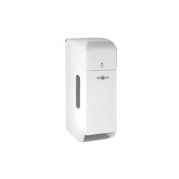 Диспенсер для туалетной бумаги для трех рулонов из нержавеющей стали белый NOFER 05100.W