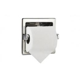 Диспенсер для туалетной бумаги встраиваемый квадратный из нержавеющей стали глянцевый NOFER 05204.B