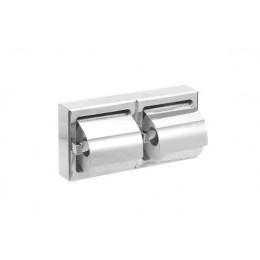 Диспенсер для туалетной бумаги для двух рулонов из нержавеющей стали глянцевый NOFER 05008.B