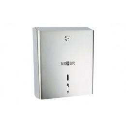 Диспенсер для туалетной бумаги прямоугольный из нержавеющей стали матовый NOFER 05103.S
