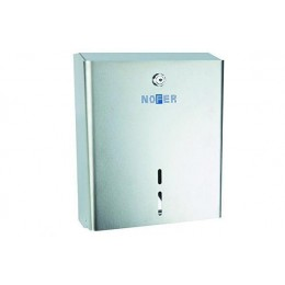 Диспенсер для туалетной бумаги прямоугольный из нержавеющей стали глянцевый NOFER 05103.В