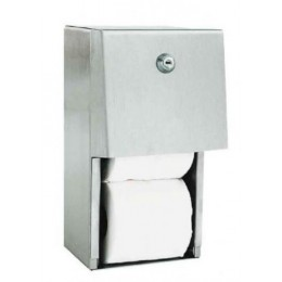 Диспенсер для туалетной бумаги для двух рулонов из нержавеющей стали матовый NOFER 05015.S