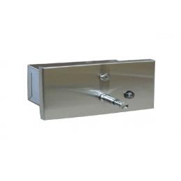 Диспенсер для жидкого мыла встраиваемый горизонтальный  матовый Nofer 03202.S
