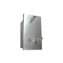 Диспенсер для жидкого мыла встраиваемый вертикальный матовый Nofer 03201.S