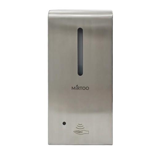 Дозатор сенсорный MIRTOO F1303 для антисептика и жидкого мыла нержавеющая сталь корпус глянцевый матовый 1000 мл.