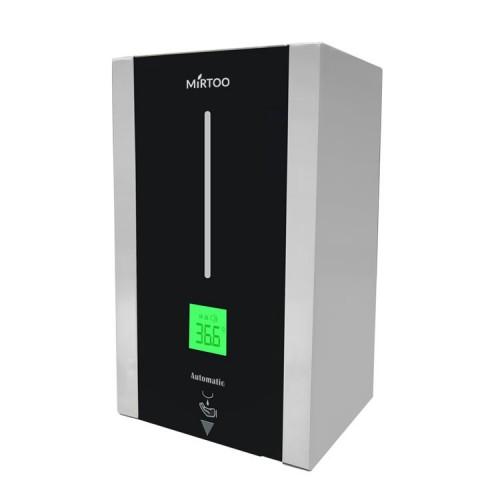 Сенсорный дозатор с термометром MIRTOO TF88 для антисептика спрей-капельный для дезинфекции рук металлический 1000 мл.