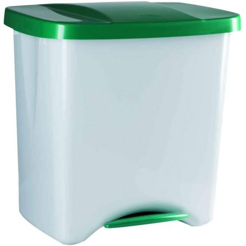 Контейнер мусорный  для раздельного сбора отходов с внутренним разделением на 1, 2 или 3 секции  с педалью и крышкой