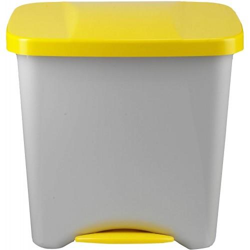 Бак для раздельного сбора мусора с внутренним разделением на 1, 2 или 3 секции с педалью и крышкой