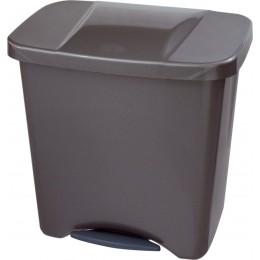 Ведро мусорное для раздельного сбора отходов с внутренним разделением на 1, 2 или 3 секции с педалью и крышкой