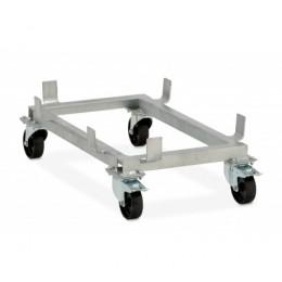 Подставка для контейнера CEMO GRP на колесах оцинкованная стальная рама
