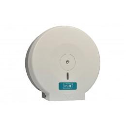 Диспенсер для рулонной туалетной бумаги из пластика белый Puff PUFF-7110
