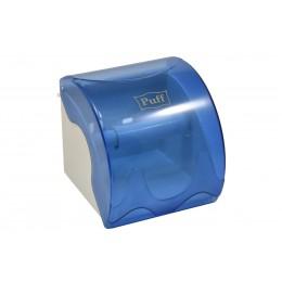 Диспенсер для рулонной туалетной бумаги из пластика синий Puff PUFF-7105