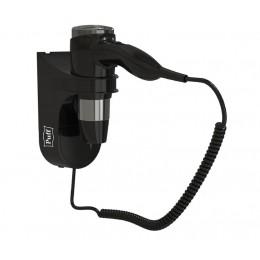 Фен настенный Пластик ABS  Puff 1600Bl Черный